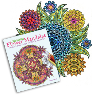 Buy my latest coloring book for adults - Coloring Flower Mandalas published by Ulysses Press!