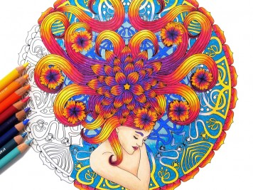 Coloring Dream Mandalas Cover Art by Wendy Piersall