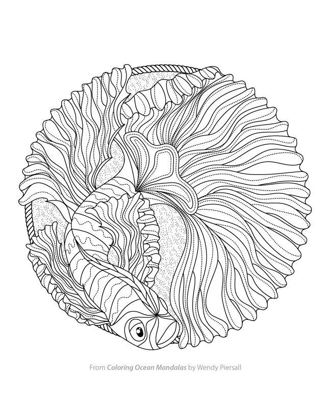 ocean mandalas coloring pages - photo #1