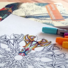 How to use and color adult coloring books