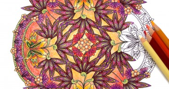 Coloring Flower Mandalas Front Cover Image