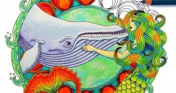 Cover Art for Coloring Ocean Mandalas