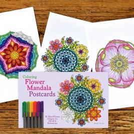 Coloring Flower Mandala POSTCARDS Are Coming Soon