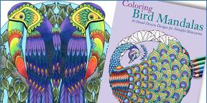 Bird Mandalas Adult Coloring Book